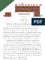 Abecedarul monahului - româna