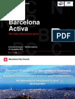 Marc Sans, Barcelona Activa
