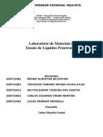 Relatório 6 - Ensaio de Líquidos Penetrantes