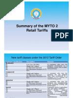 MYTO2 Retail Tariffs