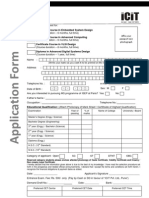 ICIT - Common Entrance Form