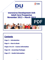 Adults Social Care Training Prospectus November 2012 - March 2013 - UPDATE