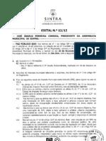 Ordem do Dia da Assembleia Municipal de Sintra de 23 de Novembro de 2012