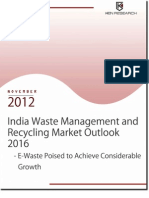 India Waste Management and Recycling Market Outlook to 2016 - E-waste Poised to Achieve Considerable Growth
