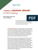 McKinsey - Talent Tensions Ahead