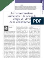 Le consommateur vulnérable, la nouvelle effigie du droit de la consommation, par S. Le Gac-Pech