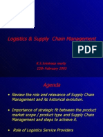 Logistics and Supply Chain Management - An Over View