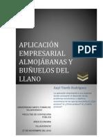 APLICACIÓN EMPRESARIAL ALMOJABANAS Y BUEÑUELOS DEL LLANO