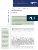 Turkey's Mediation and Friends of Mediation Initiative
