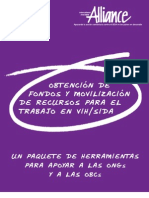 alliance - obtención de fondos y mobilización de recursos para el trabajo en vih-sida - rms1103_resource_toolkit_sp