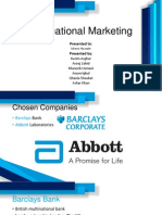 International Marketing - Barclays - Abbott
