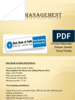 Risk Management of Sbi