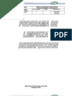 Programa de Limpieza y Desinfeccion Sena-cbc