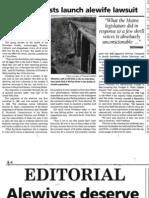 Alewife in St. Croix - Newspaper Articles