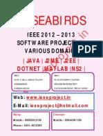 Bulk IEEE Projects 2012 - 2013