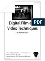 Digital Film and Video Techniques - Module Number