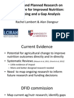 Rachel Lambert and Alan Dangour__ Research on Agriculture for Improved Nutrition