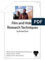 Film and Video Research Techniques. Module Number 106 AAD
