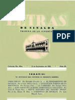 Letras de Sinaloa No. 20 Septiembre de 1950