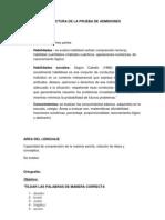 Estructura de La Prueba de Admisiones