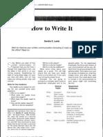 How to Write It - Sandra e.lamb