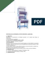 Metodologia Determinacion de Proteina