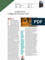 """«A mentira dum novo Código do Processo Civil» (José Lebre de Freitas, in """"Público"""", 25 de Novembro de 2012)"""