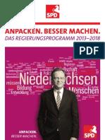 SPD Regierungsprogramm 2013 - 2018