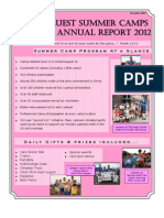 Sports Quest Annual Newsletter 2012