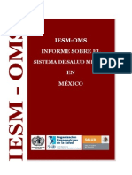 Informe OMS Salud Mental en México