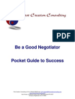 Be a Good Negotiator