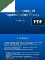 Fundamentals of Argumentation Theory Curs 7 (Fallacies 1)