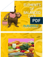Elements of Balanced Diet
