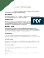 Os 12 Valores Do Partido Verde