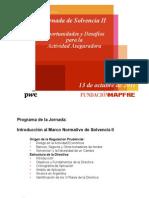 FUNDACIÓN MAPFRE - Jornada de Solvencia II - Presentacion