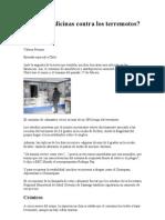 Chile Medicinas y Terremotos