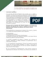 27/11/12 - Proposición de la Comisión del Distrito Federal, con proyecto de decreto que reforma la fracción II del artículo 46 del Estatuto de Gobierno del Distrito Federal