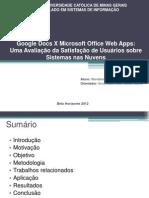 Google Docs X Microsoft Office Web Apps