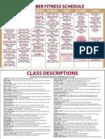 December Fitness Class Schedule