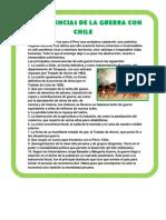 Consecuencias de La Guerra Con Chile