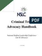 criminal trial advocacy handbook 2012