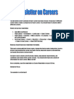 Career Newsletter Directions