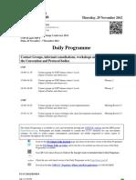 COP18 - Daily Schedule – November 29th, 2012