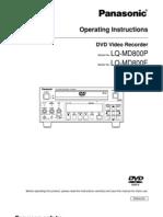 Panasonic LQ MD800E Operation Manual