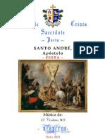 SANTO ANDRÉ, Apóstolo - VÉSPERAS