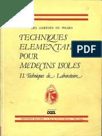 Agreges Du Pharo 83 Techniques Elementaires Pour Medecins Isoles II. Tech Laboratoire