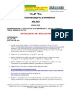 Taller de Recuperacion Final - Informatica - Diez