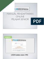 Manual Pendaftaran Online Pelajar Senior