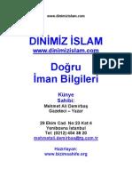 Mehmet Ali Demirbaş Dogru_Iman_Bilgileri