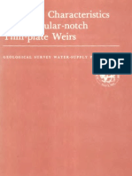 Report 1617-B USGS Discharge Characteristics of Triangular Notch Thin Plate Weirs